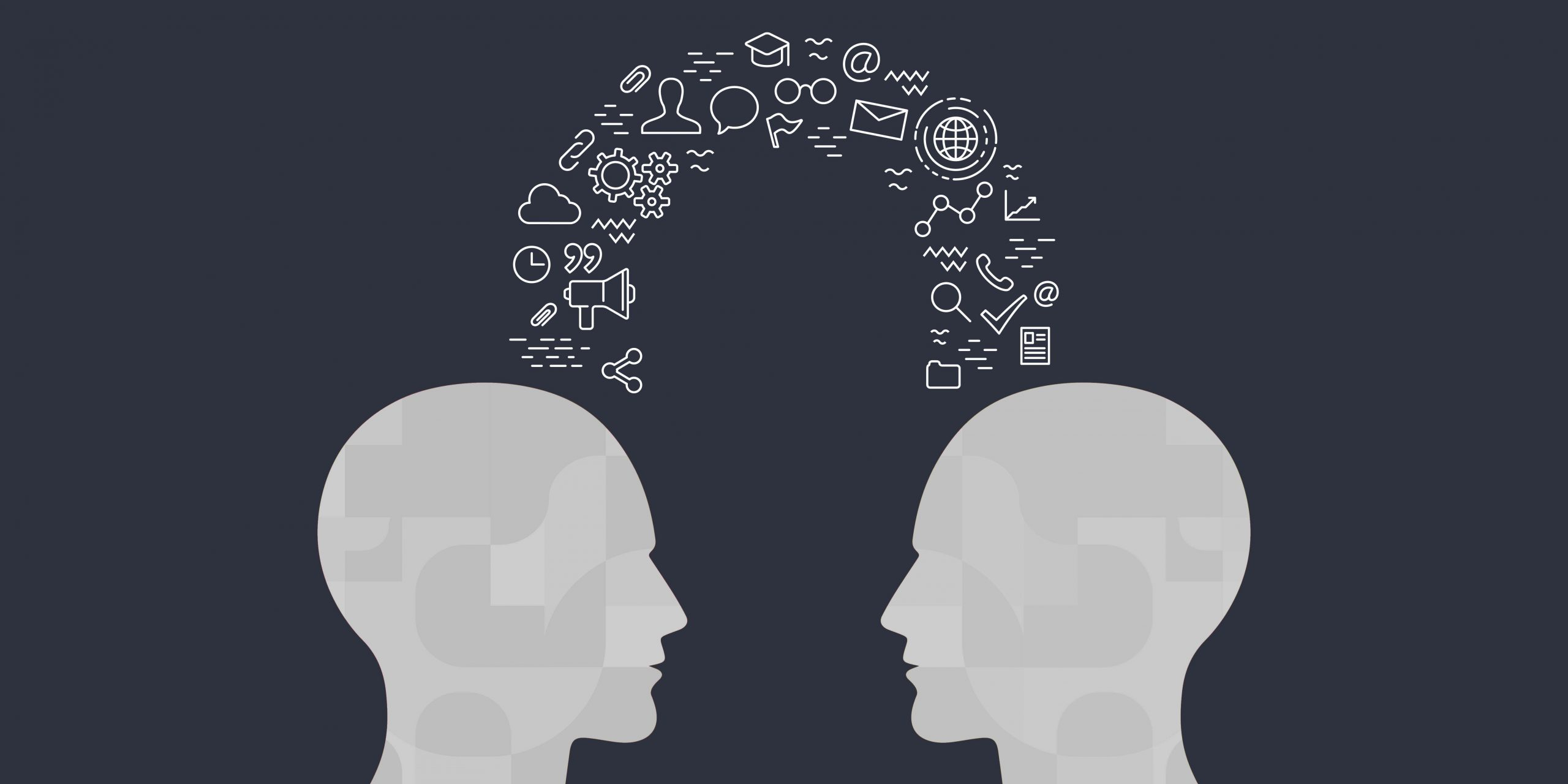 two abstract heads sharing knowledge